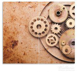 Herdabdeckplatte Zahnräder einer alten Uhr im alten Stil – Bild 1