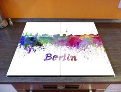 Herdabdeckplatte Städte als Aquarell - Skyline von Berlin – Bild 2