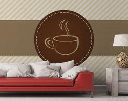 Vliestapete Kaffee-Menü - Logo Symbol für Kaffee – Bild 3