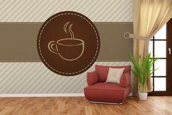 Vliestapete Kaffee-Menü - Logo Symbol für Kaffee – Bild 4