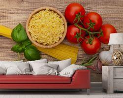 Vliestapete Spaghetti mit Tomaten, Knoblauch und Basilikum – Bild 3