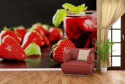 Vliestapete Erdbeer-Mojito - Frische Erdbeeren – Bild 2