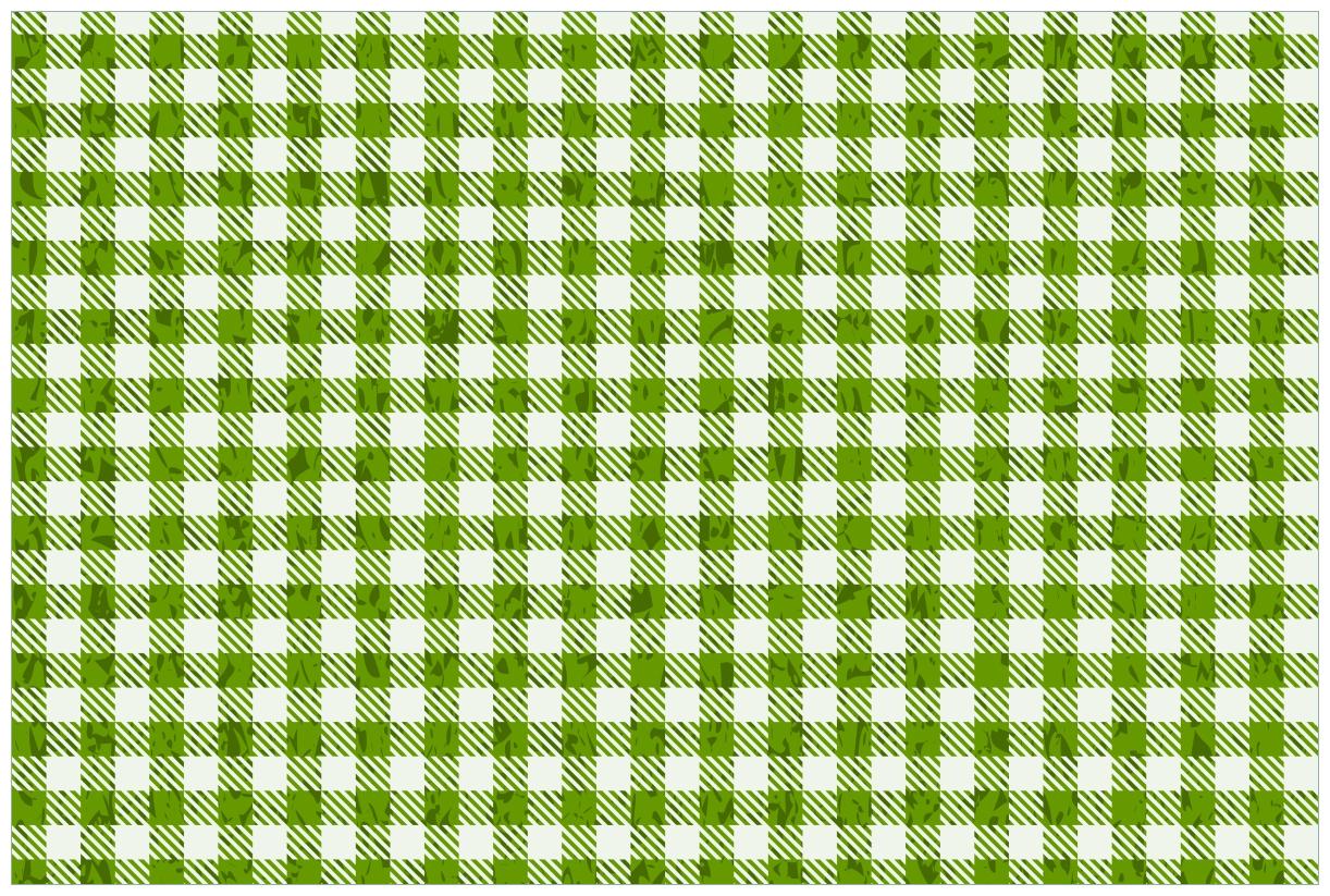Vliestapete Muster einer Tischdecke in grün und weiß kariert – Bild 1