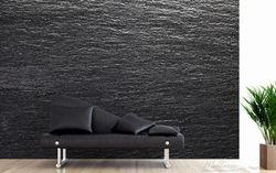 Vliestapete Muster schwarze Schiefertafel Optik Steintafel – Bild 2