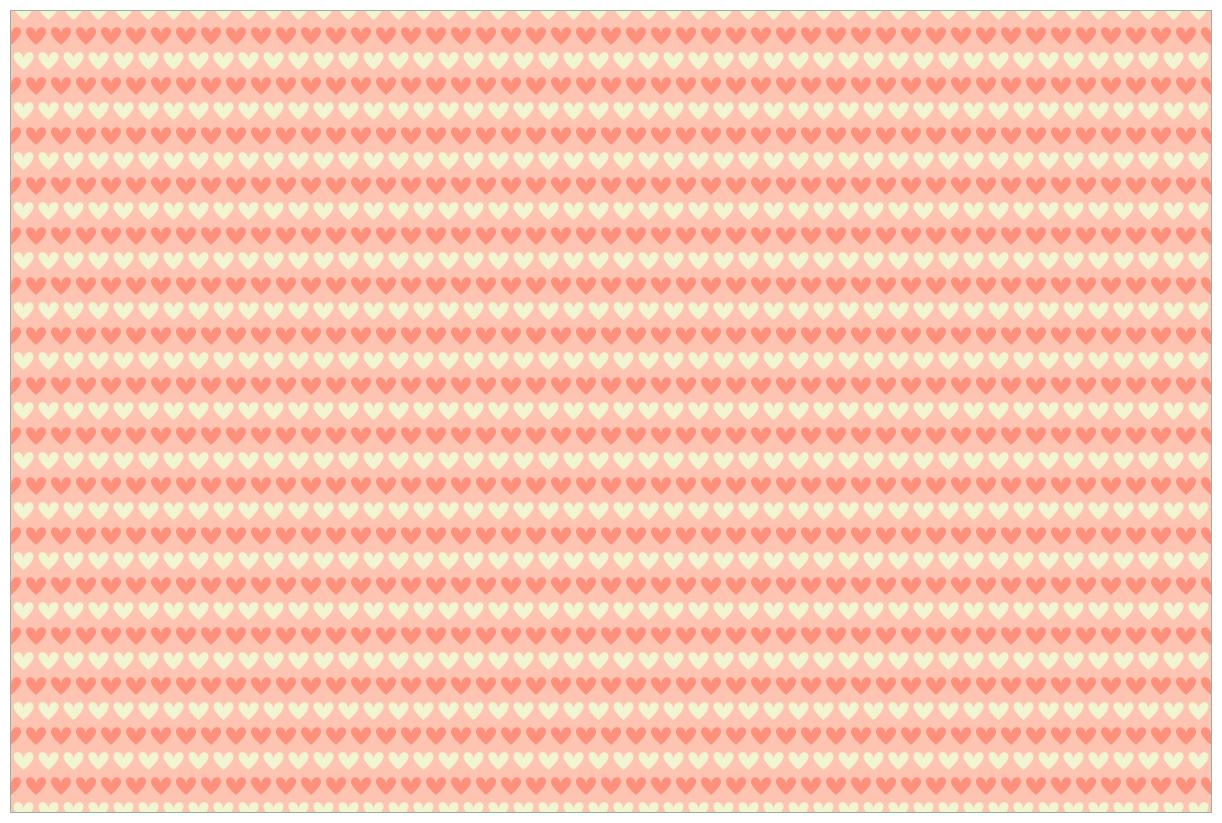 Vliestapete Muster Herzen in beige und rot  – Bild 1