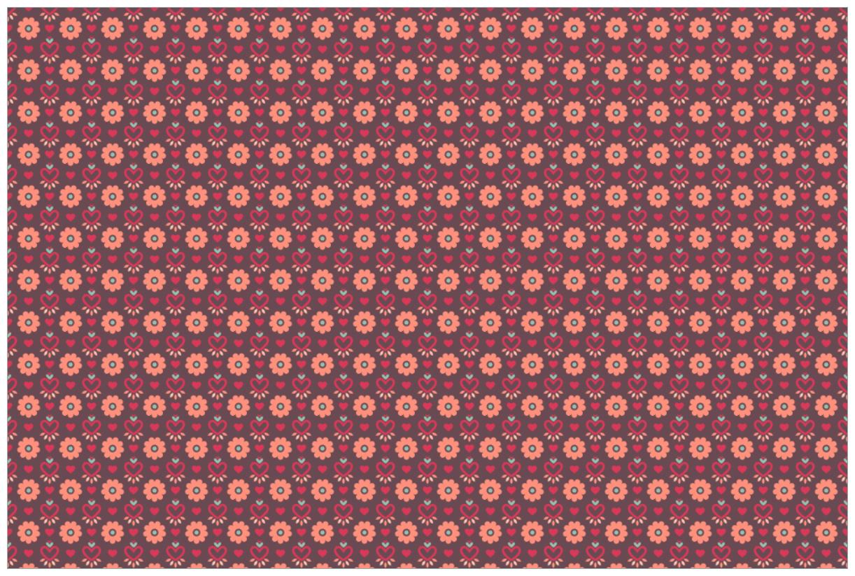 Vliestapete Muster Mit Blumen Und Herzen