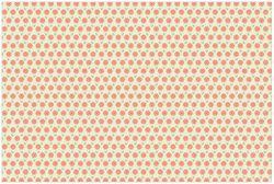 Vliestapete Muster mit roten Blumen und grünen Blättern – Bild 1