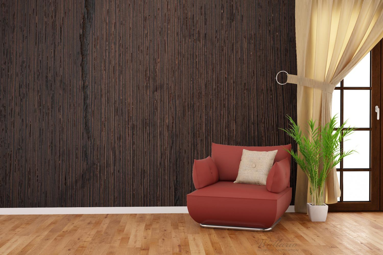 Vliestapete Holz-Optik Textur dunkelbraunes Holz – Bild 2