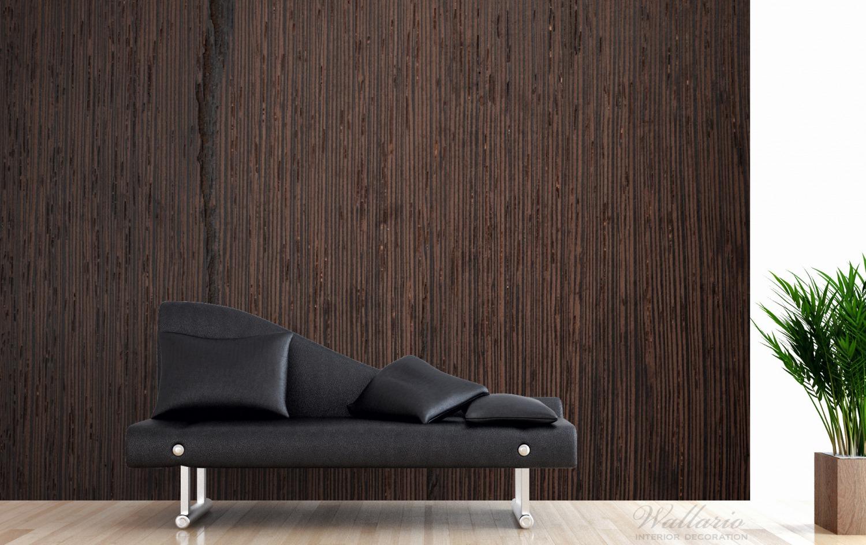 Vliestapete Holz-Optik Textur dunkelbraunes Holz – Bild 4