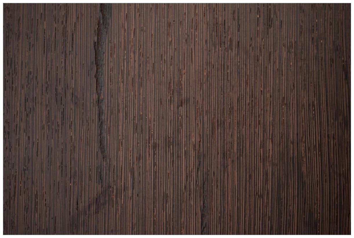 Vliestapete Holz-Optik Textur dunkelbraunes Holz – Bild 1
