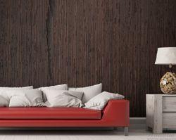 Vliestapete Holz-Optik Textur dunkelbraunes Holz – Bild 3