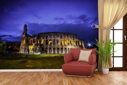 Vliestapete Italien bei Nacht - Kollosseum in Rom, beleuchtet am Abend – Bild 2