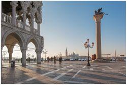 Vliestapete Venedig - Dogenpalast, Markusplatz und die Kirche San Giorgio Maggiore I – Bild 1