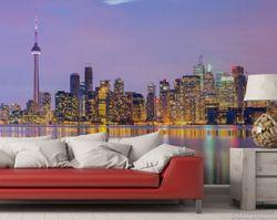 Vliestapete Toronto Skyline - Kanada am Abend – Bild 3