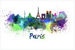 Vliestapete Städte als Aquarell - Skyline von Prais – Bild 1