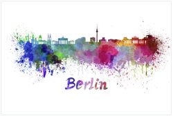 Vliestapete Städte als Aquarell - Skyline von Berlin – Bild 1