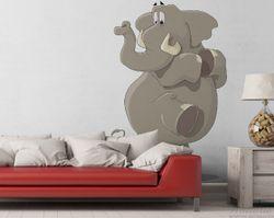 Vliestapete Elefant erschrickt vor Maus – Bild 2