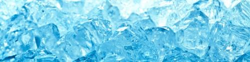 Küchenrückwand Leuchtendes Eis in blau