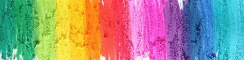 Küchenrückwand Regenbogenstreifen auf weißem Hintergrund - Bunter Anstrich