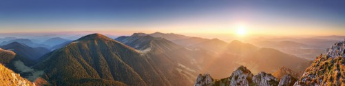 Küchenrückwand Berglandschaft mit Sonnenuntergang in der Slowakei