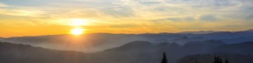 Küchenrückwand Sonnenaufgang über dem Schwarzwald