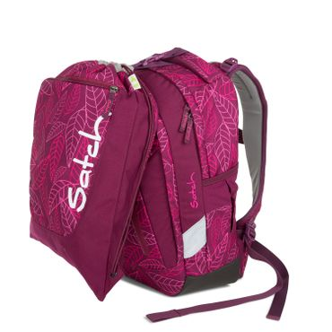 Satch Sleek Schulrucksack Purple Leaves  – Bild 9