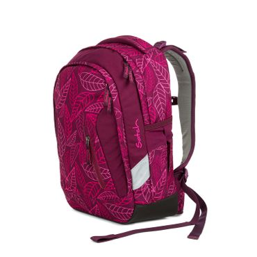 Satch Sleek Schulrucksack Purple Leaves  – Bild 2
