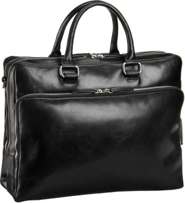 "Leonhard Heyden Cambridge 13"" Aktentasche mit Laptopfach schwarz"