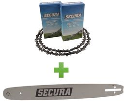 2 Sägeketten + 1 Schwert passend Husqvarna 380 50cm (3/8-1,5-72)