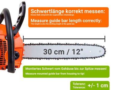 4 x Sägekette 30cm 45TG 3//8LP 1,3 mm passend Echo CS-260T//TES CS-320T//TES