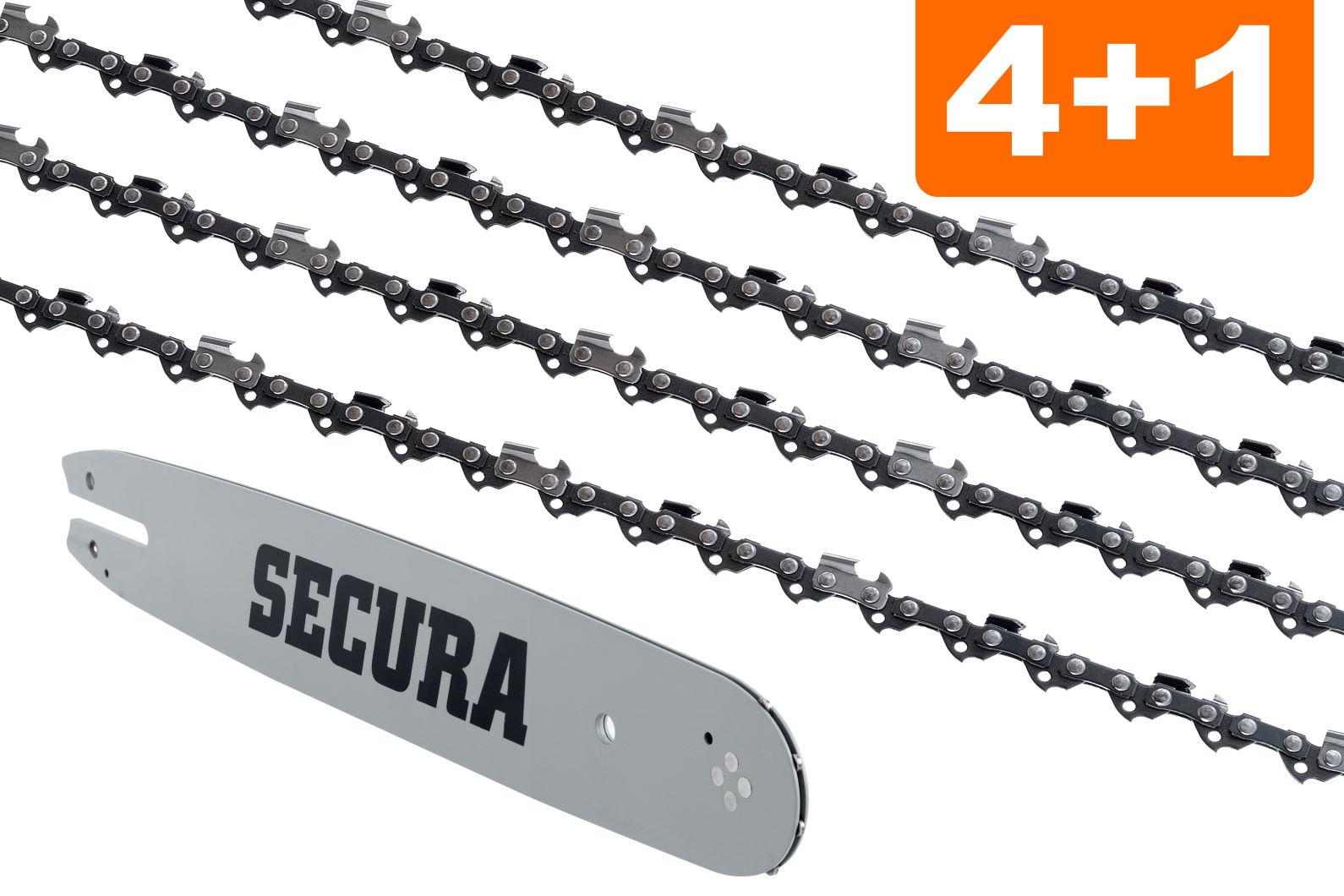 """2 chaînes adapté pour partenaires p4-20xt 30 cm 3//8/"""" 45 TG 1,3 mm chaine de tronconneuse Épée"""