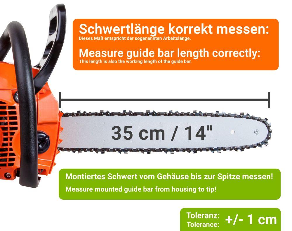2 Chaînes adaptable pour Makita DUC35335cm 3//8LP 52TG 1,1mm