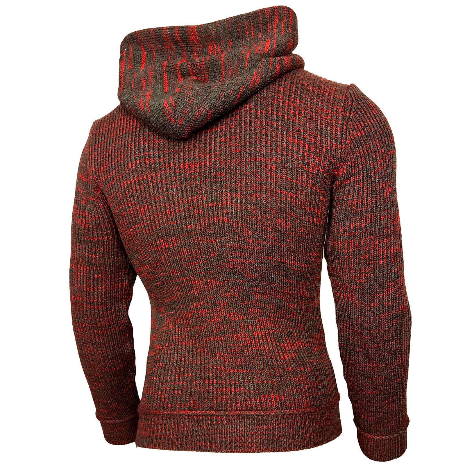 Rusty Neal Herren Sweater 2in1 V-Neck Pullover Sweatshirt Pulli RN-6769-P NEU