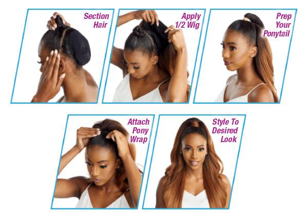 Anleitung für die Installation im Haar