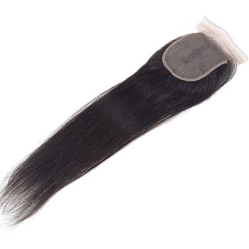 Urembo Gold Free-Parting Closure - 100% Brazilian Remy Human Hair Natural Straight Echthaar