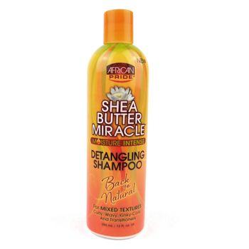 African Pride Shea Butter Miracle Moisture Intense Detangling Shampoo 12oz 355ml