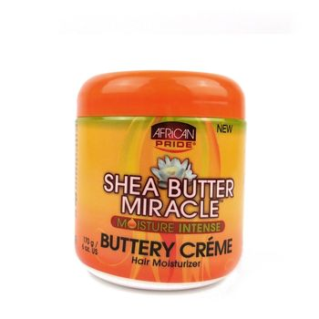 African Pride Shea Butter Miracle Moisture Intense Buttery Creme 6oz 170g