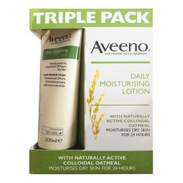 TRIPLE PACK Aveeno Daily Moisturising Lotion 3x8oz 600ml