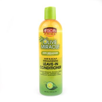 African Pride Olive Miracle Anti-Breakage Leave-In Conditioner Bottle 12oz 355ml