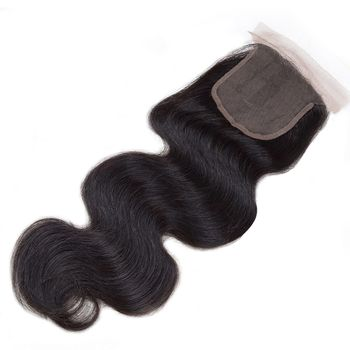 Urembo Gold Free-Parting Closure - 100% Brazilian Remy Human Hair Body Wave Echthaar