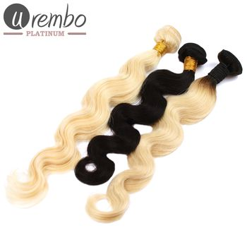 Urembo Platinum 100% Indische Echthaar Tressen BODY WAVE Virgin Remy indian Human Hair Extension Weave - 100g