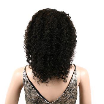 Urembo Platinum Lace Front Wig - 100% Brazilian Virgin Remy Human Hair Deep Wave 14 Inch 35cm Echthaar Perücke