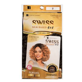 Sensationnel EMPRESS SWISS LACE FRONT EDGE PORSHA 4x4 Silk Base Perücke Lace Wig