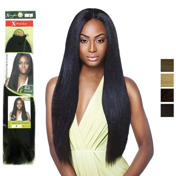 X-Pression Pre-Looped DOMINICAN BLOW OUT STRAIGHT 18'' bulk Braids