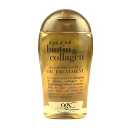 OGX Organix Thick & Full + Biotin & Collagen - Weightless Healing Oil Treatment 3.3oz 100ml