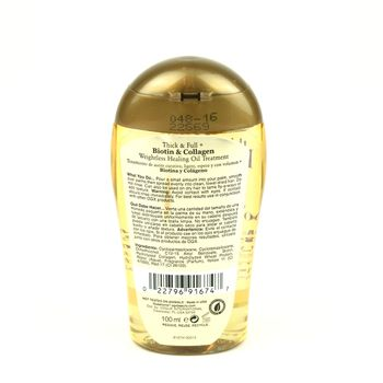 OGX Organix Thick & Full + Biotin & Collagen - Weightless Healing Oil Treatment 3.3oz 100ml