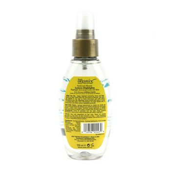 OGX Organix Sunkissed Blonde Lemon Highlights - Citrus Oil Mist 4oz 118ml