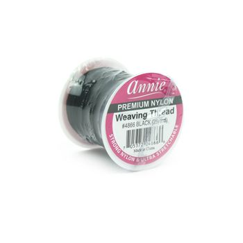 Annie Premium Nylon Weaving Thread 25 Yard schwarz - elastischer Weaving-Faden