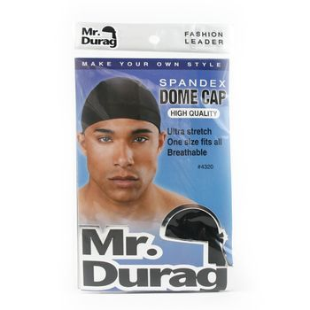 Annie Mr. Durag (1 Stk, 1 pcs) Spandex Dome Cap #4320 (black, schwarz)