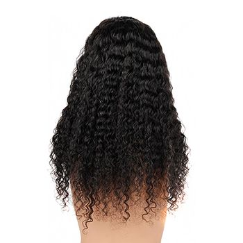 Urembo Platinum Lace Front Wig - 100% Brazilian Virgin Remy Human Hair Deep Curly Echthaar Perücke